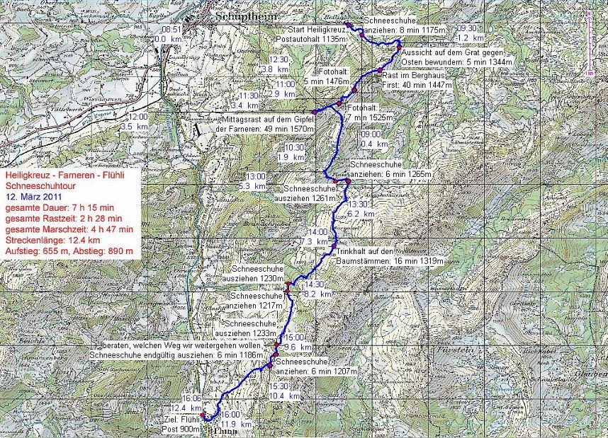 GPS Aufzeichnung von Hanspeter Sauter