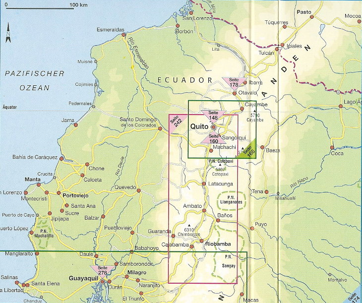 Ecuador regional maps on the following pages