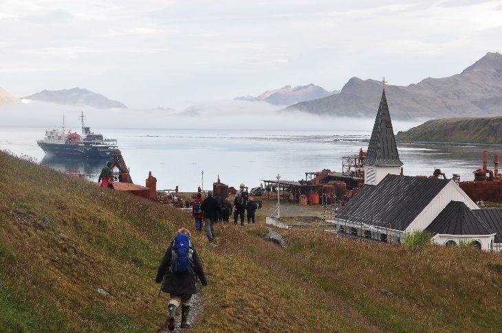 arrival in Grytviken