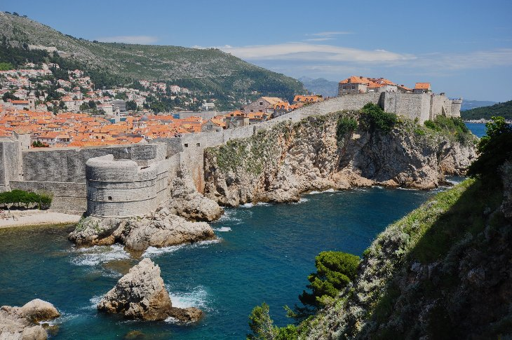 Dubrovnik from the Lovrijenac Fortress