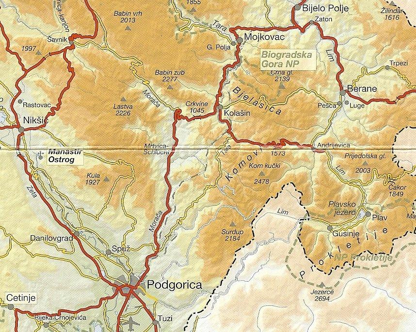 Podgorica und Kolasin