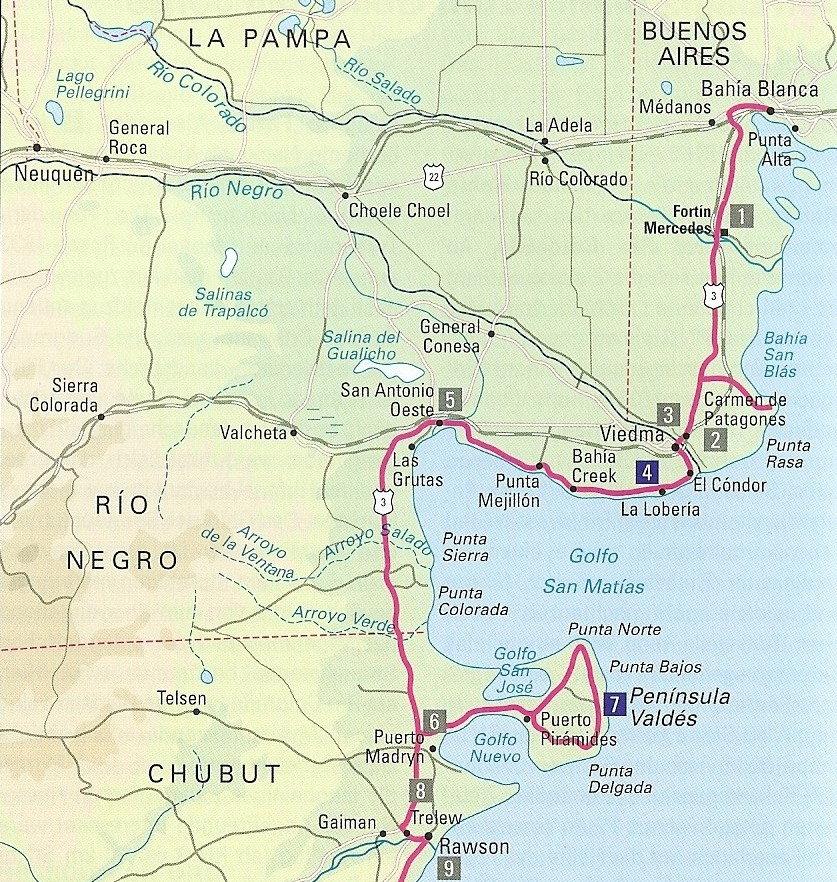 Bahia Blanca - Peninsula Valdes