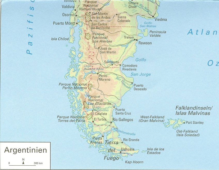 Southern Argentina and Chile