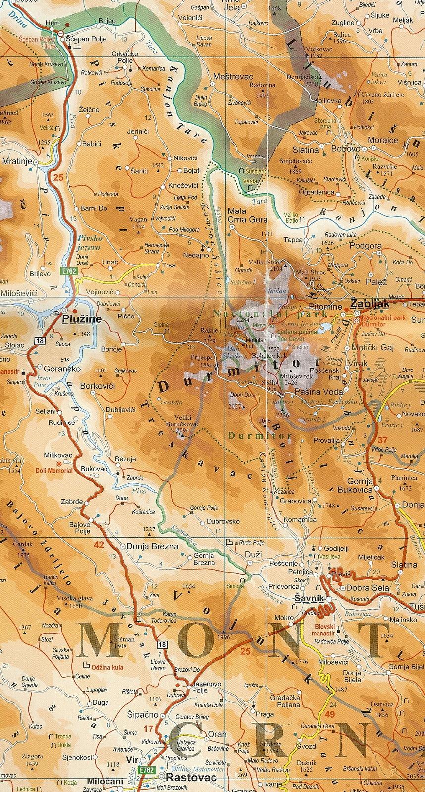Piva Schlucht und Durmitor National Park