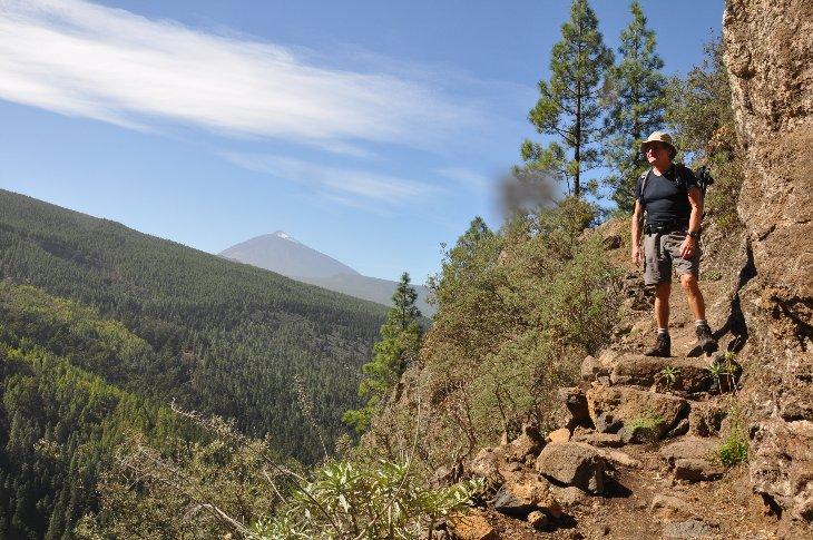 Organos-Hohenweg mit Blick auf den Teide