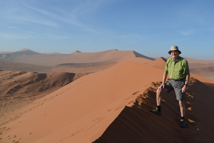 at the top of Sossusvlei dune number 45