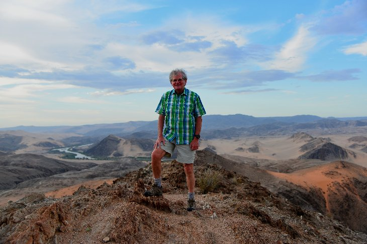 at the look-out point above the Kunene river