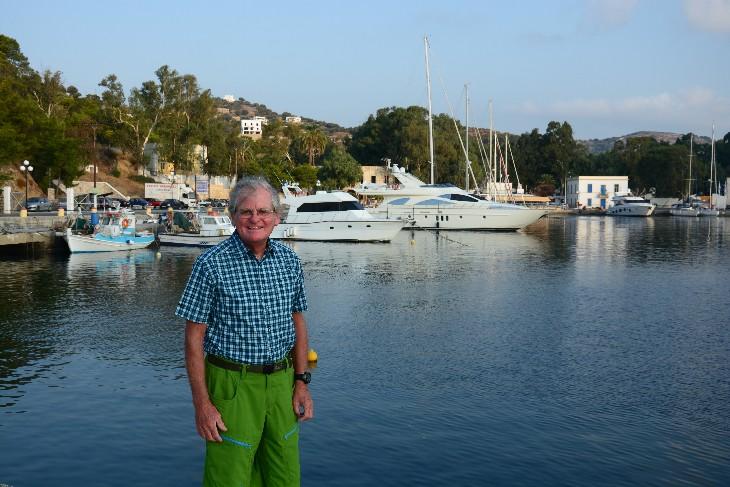 in Lakki, der Hafen von Leros
