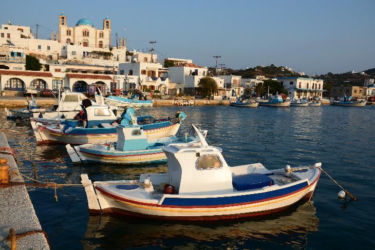 Lipsi Hafen mit der Mitropolis