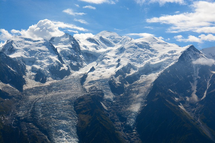 Mont Blanc 4807m, the highest mountain in France/Italy and in the Alps