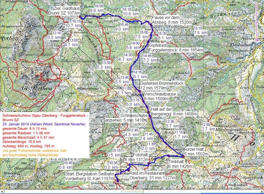 Illgau - Ibergeregg - Furggelenstock - Brunni
