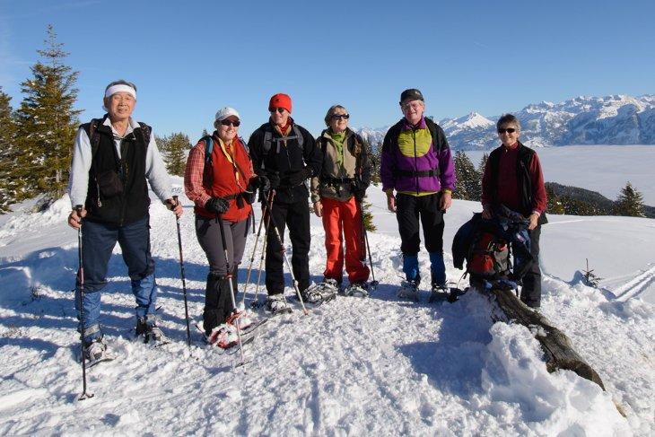 auf dem Gipfelgrat von Jänzi 1738m