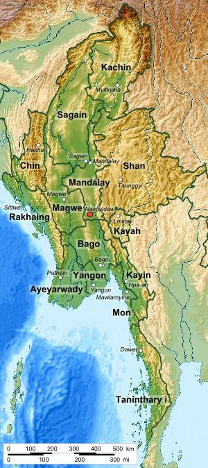 Mayanmar states