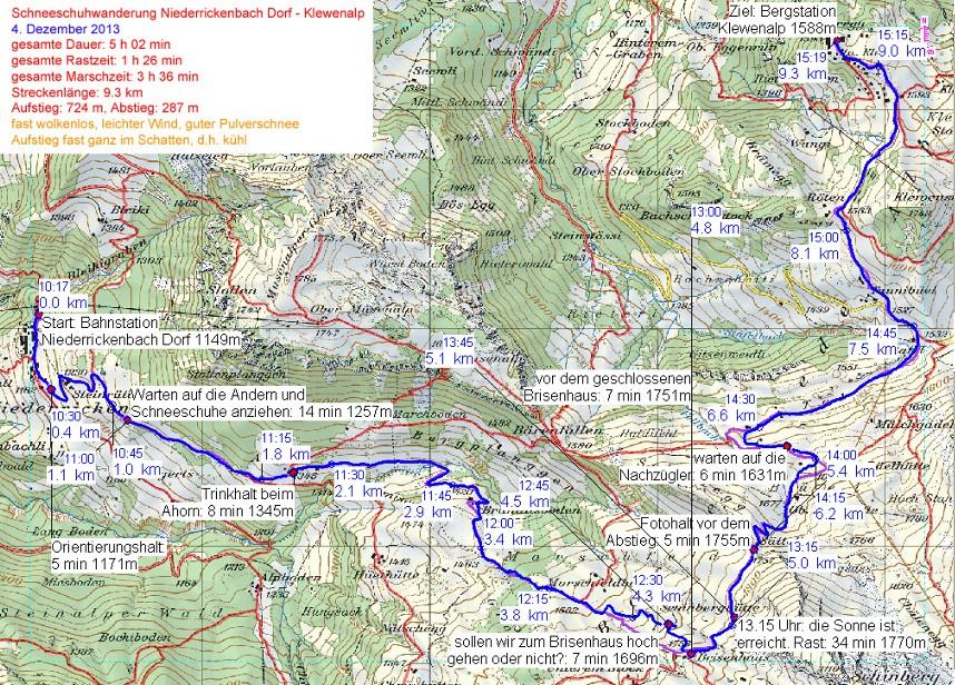 GPS Route Brisenhaus