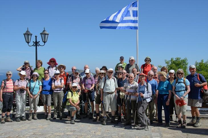 Der Gruppe auf Patmos